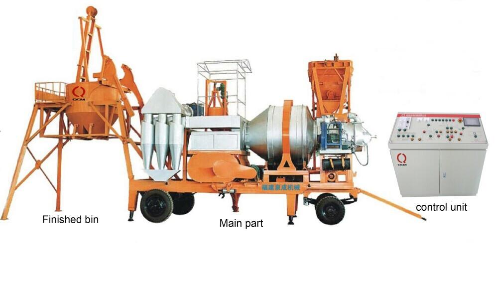 Мобильный асфальтный завод QCS-30 из Китая 30 тонн/час