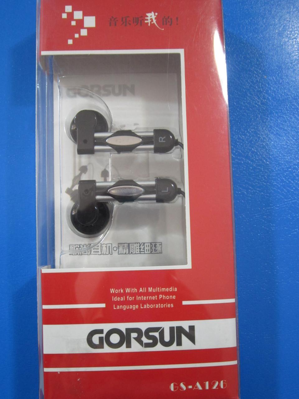 Наушники-вкладыши проводные Gorsun CS 126
