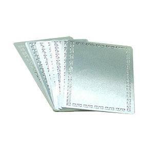 Металлические заготовки (золото/серебро/с узором) для визитки 54x86 под сублимацию
