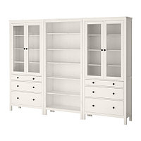 Шкаф комб для хран ХЕМНЭС с дверц/ящ, белая морилка, ИКЕА, IKEA , фото 1