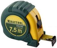 """Рулетка KRAFTOOL """"EXPERT"""" с нейлоновым покрытием, обрезин корпус, 7,5/25мм"""