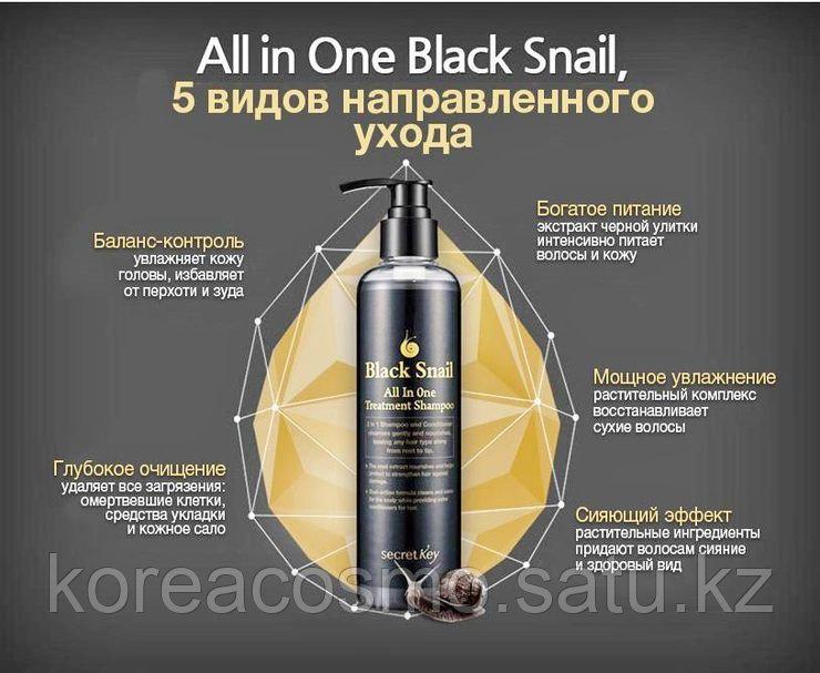 Secret Key Black Snail All In One Treatment Shampoo - Инновационное средство 2в1 - шампунь + лечебный уход 250