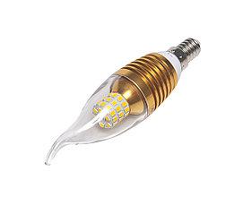 Светодиодная лампа E14, 220V, 9W (свеча на ветру)