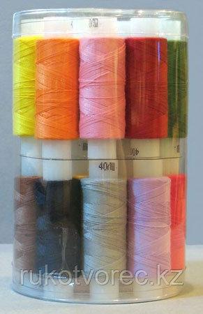 Набор ниток швейных плательных костюмных 45 ЛЛ,24 шт/ 200 м