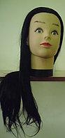 Учебная голова болванка учебная манекен, искусственные волосы
