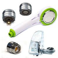 Комплект «Водосбережение- сенсорная насадка, лейка для душа, насадка с таймером, фото 1