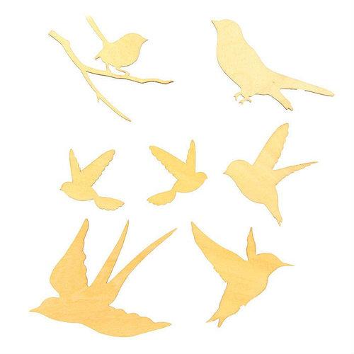 "Декор для творчества (набор 7 шт) ""Птицы"""