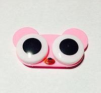 Контейнер для линз розовый мишка
