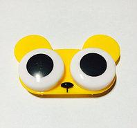 Контейнер для линз желтый мишка