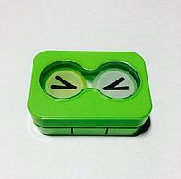 Контейнер для линз + щипчики Зеленый