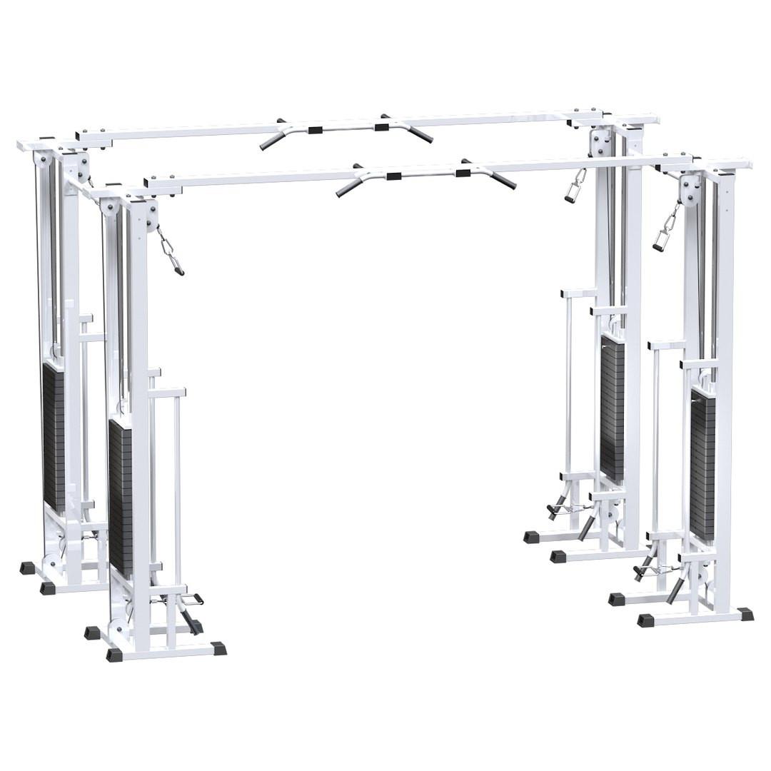 Двойной кроссовер на базе реабилитационной рамы (стек 4х100кг) (AR082.4х100)