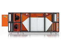 Климатическая установка с противоточным пластинчатым теплообменником для средних и больших общественных бассей