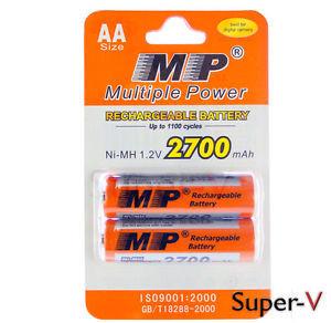 Аккумулятор АА Модель:  MP AA2700*2