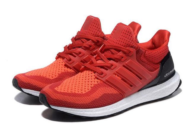 Кроссовки Adidas Ultra Boost красные, фото 2
