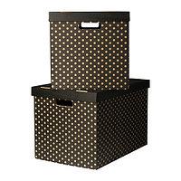 Коробка с крышкой  черный ПИНГЛА  , фото 1