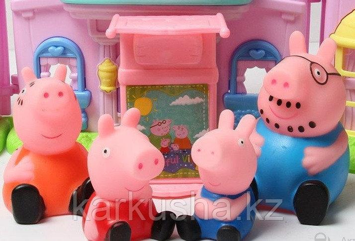 Набор 4 резиновые фигурки в коробке 7 см. Свинка Пеппа(не оригинал)