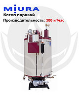 Котел паровой, водогрейный, дизельный, одноконтурный, стальной MIURA TX-300, фото 1