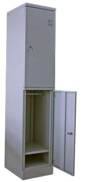 Шкаф металлический гардеробный двухсекционный