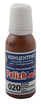 КОЛЕР 020 Каштан 20мл концентрат для тонирования «PalizhMix», фото 2