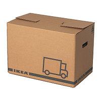 Коробка упаковочная ЭТЭНЕ 2 шт. коричневый ИКЕА, IKEA, фото 1