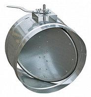 Заслонка воздушная унифицированная с ручным управлением (круглая)