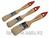"""Набор STAYER Кисти """"UNIVERSAL-STANDARD"""", светлая натуральная щетина, деревянная ручки, плоские, 3шт"""