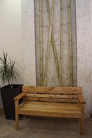Скамейка садовая деревяная со спинкой