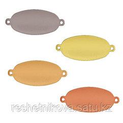 Заготовки для чеканки овал с петлями 2.5x1.3 см 5 шт