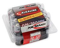 Батарейки пальчиковые AA ANSMANN Alkaline-Red-1.5V-20шт оптом