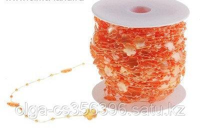 Бусины на леске. Оранжевые.  Creativ 959