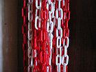 Цепь пластиковая  красно белая 8 мм ТОО ДорСтройСнаб +77079960093, фото 2