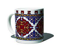Кружка керамическая с орнаментом, 10 см