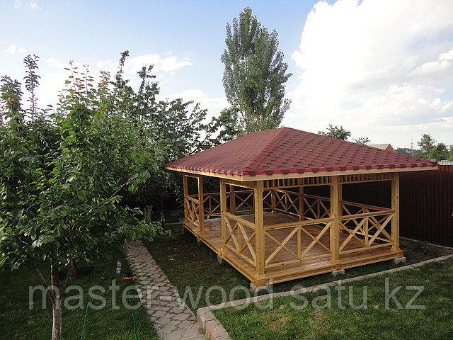 Изготовление садовой деревянной мебели: Беседки, навесы, топчаны, скамейки, лавочки, мостики, столики. - фото 3