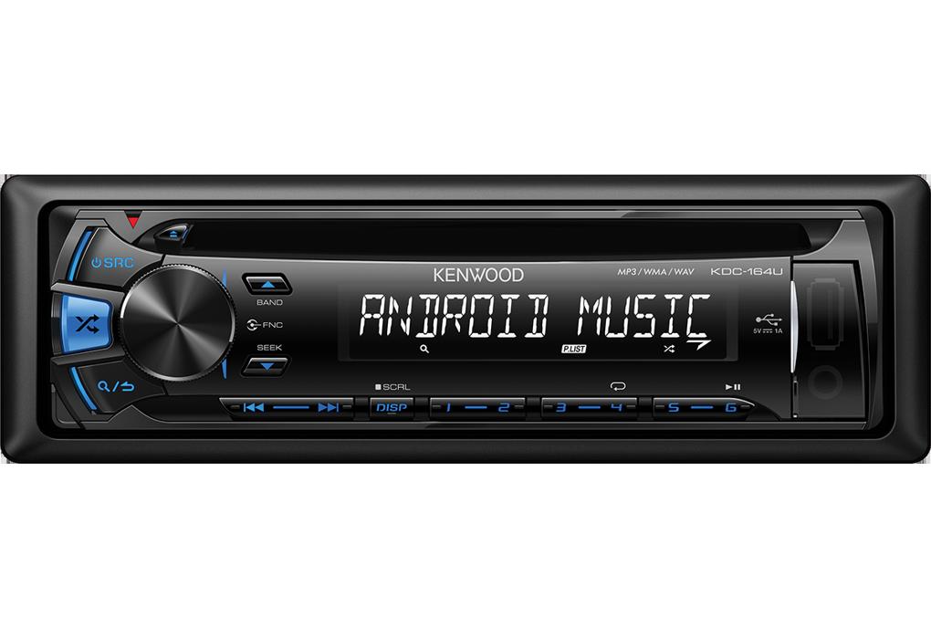 Автомагнитола KDC-164UB CD/MP3 USB голубая подсветка - фото 2