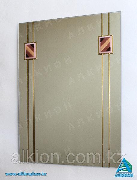 Зеркало с фьюзинг-декорами