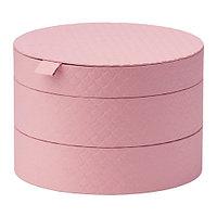 Коробка с крышкой  светло-розовый ПАЛЬРА , фото 1