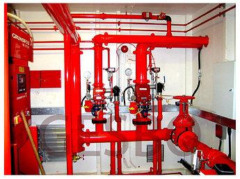 Обслуживание и восстановление систем водяного и газового пожаротушения.