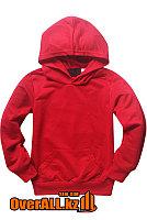 Детская красная толстовка, свитшот, фото 1