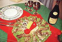 Цептер рецепты казахской национальной кухни. Кабырга-рулет из бараньей грудинки