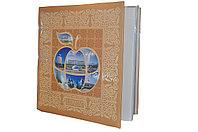 """Фотоальбом """"Яблоко"""" с изображением казахского национального орнамента"""