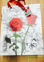 "Пакет ""Красная роза"" большой 26х32см"