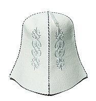 Казахский колпак войлочный, белый, 29 см