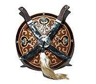Қалқан семсер. Казахский средневековый щит и 2 меча.