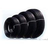 Труба ПНД (полиэтилен низкого давления, чёрная) для прокладки кабеля, фото 2