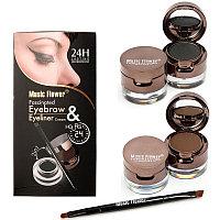 Тени для бровей + подводка для глаз 2 в 1, Music Flower eyebrow eyeliner cream, 24H, фото 1