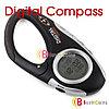 Цифровой компас + часы + термометр с карабином