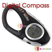 Цифровой компас + часы + термометр с карабином, фото 1