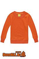 Детская оранжевая толстовка-свитшот, фото 1