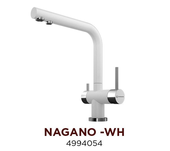 Смеситель OMOIKIRI NAGANO-WH (4994054), белый/хром