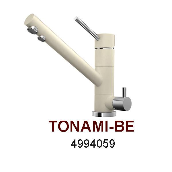 Смеситель OMOIKIRI TONAMI-BE (4994059), ваниль/хром